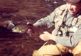 Pat Dorsey and Rainbow Trout in Cheesman Canyon Colorado