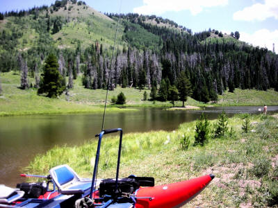 Hahns Peak Lake fishing colorado